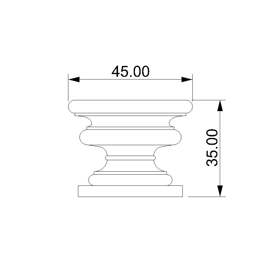 misure vaso in pietra per esterno o interno