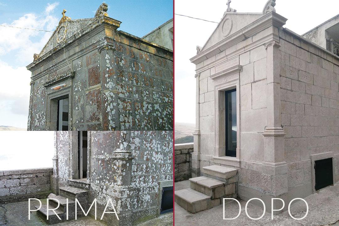 Restauro della pietra: Cappella Gentilizia