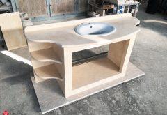 Marble bathroom cabinet