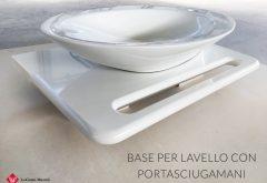 Base per lavello con portasciugamani