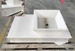 Lavello per il bagno in marmo
