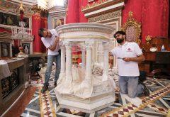 ambone in marmo Malta