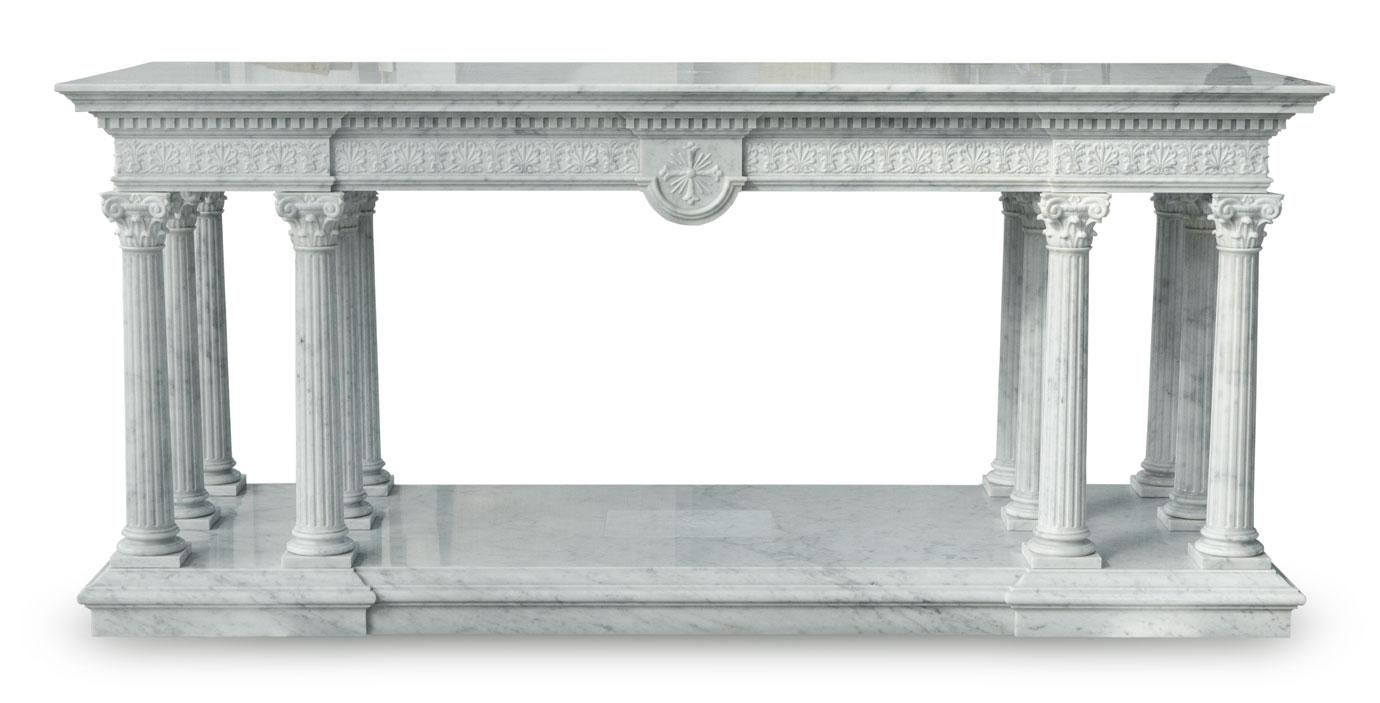 Altare in marmo pregiato realizzato per la Rotonda di Mosta, a Malta