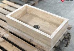 Interlocking stone washbasin