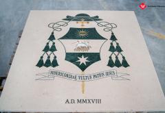 stemma vescovo intarsio marmo