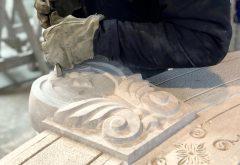 Chiave per portale in pietra