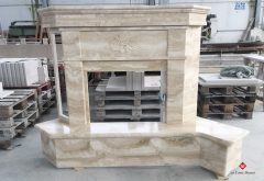 Stone fireplace cladding